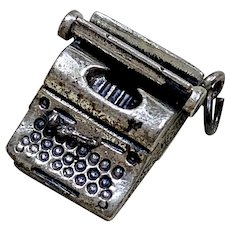 Typewriter Vintage Charm Danecraft Sterling Silver Three-Dimensional