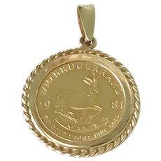 24K Fine Gold Coin Krugerrand 1981 Vintage Charm
