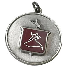 Dieges & Clust Ballroom DANCE Medal Charm Sterling Silver & Red Enamel