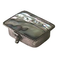Handcrafted Vintage Miniature Box Sterling Silver & Abalone, Mexico