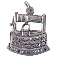 Wishing Well Vintage Charm Handcrafted Sterling Silver c. 1940's