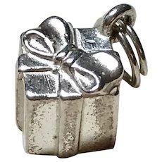 Gift Box Vintage Charm Sterling Silver Three-Dimensional