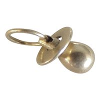 Baby's Pacifier Charm Three-Dimensional 14K Gold circa 1960's