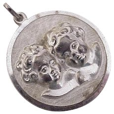 Putti / Cherub BIG Vintage Charm Krementz Sterling Silver circa 1950's W.Germany