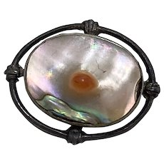 Victorian Small Pin Blister Pearl & Sterling Silver