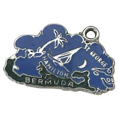 Bermuda Vintage Charm Colorful Enamel Sterling Silver Travel Souvenir