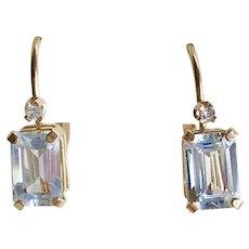 5d25d6eab510b Vintage 14k Gold .10 ctw Teardrop Earrings : Arnold Jewelers | Ruby Lane