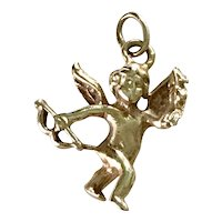 Cupid Vintage Charm 14K Gold Three Dimensional