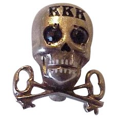Tri-Kappa Fraternity Pin Kappa Kappa Kappa Skull & Cross Keys