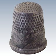 Simons Brothers Sterling Silver Sewing Thimble c. 1908