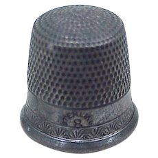 Vintage Sterling Silver Sewing Thimble size 8