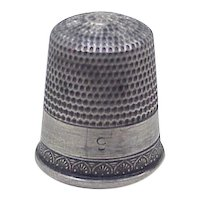 Vintage Sterling Silver Sewing Thimble by Simons Brothers size 9