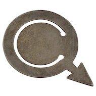 Vintage Tiffany & Co Bookmark Sterling Silver, Male Symbol