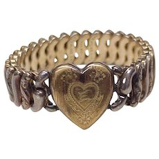 Sweetheart Expansion Bracelet Gold on Sterling Silver