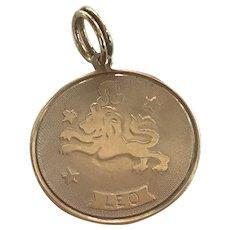 Leo Zodiac Astrology Vintage Charm 10K Gold