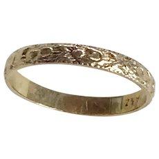 Vintage Baby Ring 10K Gold Floral Design size 00