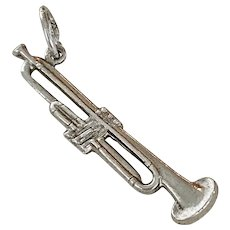 Trombone Vintage Charm Sterling Silver circa 1940's