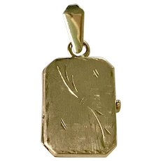 20 Year Anniversary Locket 14K Yellow Gold