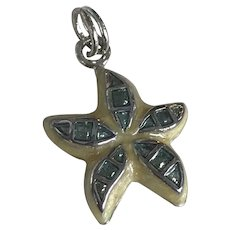Sea Star / Starfish Nautical Charm Sterling Silver Colorful Enamel