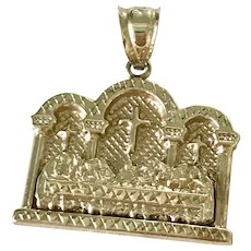 The Last Supper Vintage Pendant 10K Gold