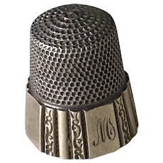 Antique Sewing Thimble Sterling Silver Simons Bros. size 12