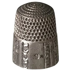 Antique Sewing Thimble Sterling Silver Simons Bros. size 9