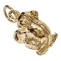 FROG Vintage Charm 14K Gold Three-Dimensional