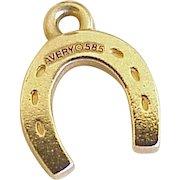 Lucky Horseshoe Vintage Charm 14K Gold Three-Dimensional, James Avery
