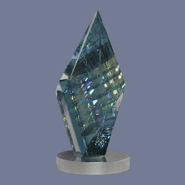 MAGNIFICENT Magnum JACK STORMS Ariel OPTIC Crystal DICHROIC Glass SCULPTURE