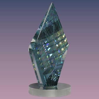 MAGNIFICENT Magnum JACK STORMS Ariel OPTIC Crystal DICHROIC Glass SCULPTURE