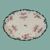 Late 1800s early 1900s hand painted Japanese porcelain dresser or vanity tray dish