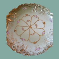 L. Straus & Son's V F Porcelain hand painted plate circa late 1800s
