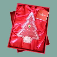 Sparkling Waterford crystal Christmas tree candy dish in original gift box