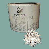 Vintage sparkling Swarovski crystal Max Schreck hedgehog Secret Garden figurine no whiskers original packaging