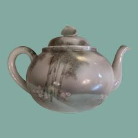 Late 1800's - 1900 Nippon era hand painted fine porcelain teapot bamboo in moonlight