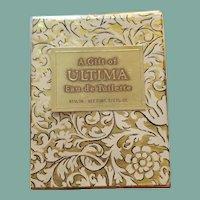 Vintage sealed 1960s Revlon Ultima perfume 1/2 ounce