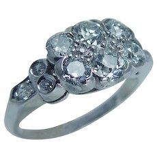 Vintage Platinum 1.16ct VS-H Old miner cut Diamonds Ring Jewelry