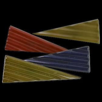 Vintage Modernist BUCH+DEICHMANN B+D Denmark Scandinavia Triangle Brooch Set of 4