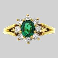 Natural Fine Emerald & Diamond 18 karat Ring by Kurt Wayne