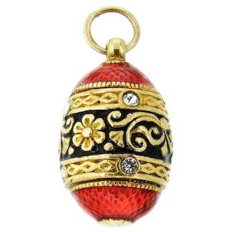 Darling Vermeil Enamel Egg Pendant Charm