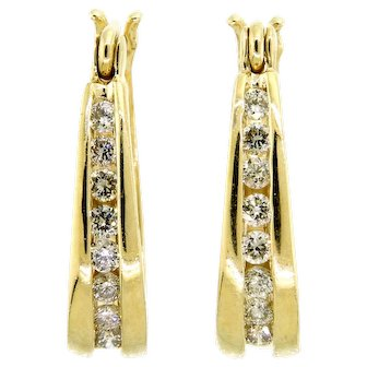 Timeless Diamond Hoop Earrings