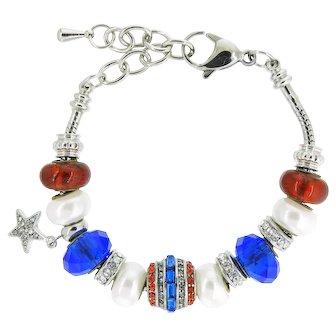 New-In-Box Red White & Blue Bracelet