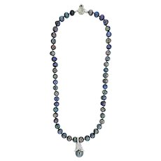 Exceptional Tahitian Pearl and Diamond Necklace