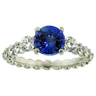 Dazzling Ritani Sapphire and Diamond Ring