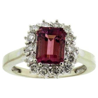 Enchanting Pink Tourmaline and Diamond Ring