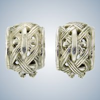 John Hardy Bamboo Collection Earrings – Sterling Silver