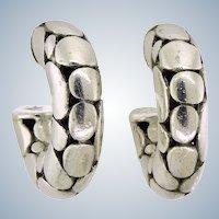 John Hardy Kali Dot Hoop Earrings – Sterling Silver