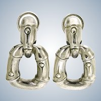 John Hardy Bamboo Collection Door Knocker Earrings – Sterling Silver