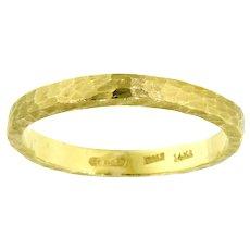 Smashing Satin Finish Hammered Ring in 14K Gold