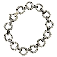 LAGOS Caviar Beaded Link Bracelet in Sterling Silver